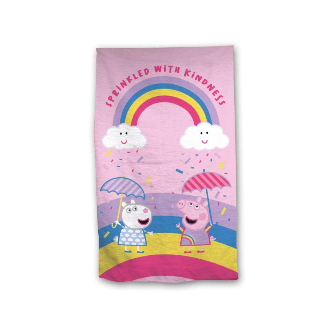 Peppa Pig Girls Towel Rainbow