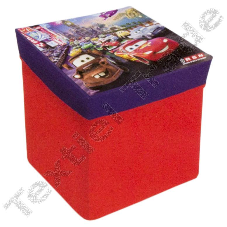 """Disney Kids Stool 16 cm /""""Cars/"""" in Red Stool is ideal gift NEW"""